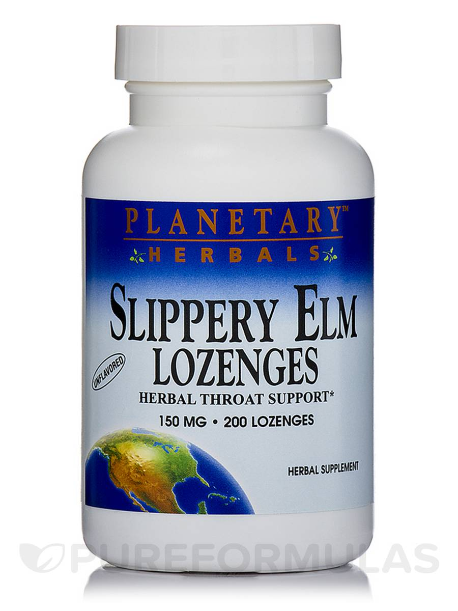 Slippery Elm Lozenges Unflavored 150 mg - 200 Count