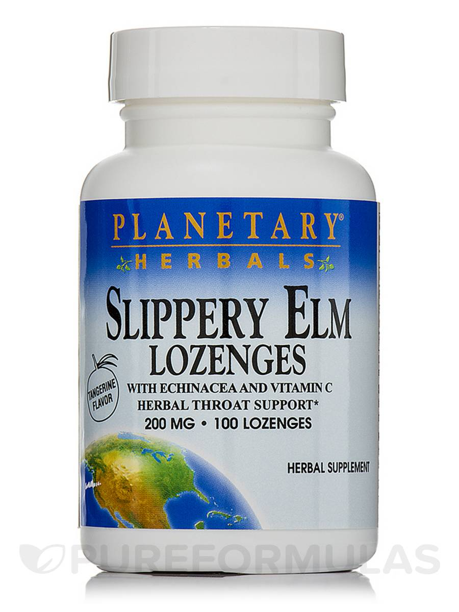 Slippery Elm Lozenges with Echinacea & Vitamin C Tangerine Flavor 200 mg - 100 Count