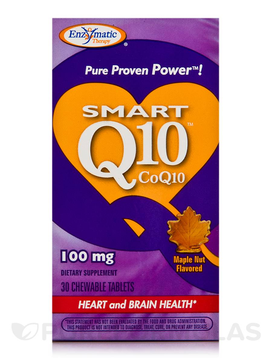 Smart Q10 CoQ10 100 mg Maple Nut Flavor - 30 Chewable Tablets