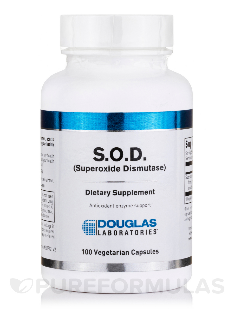 S.O.D. (Superoxide Dismutase) - 100 Capsules