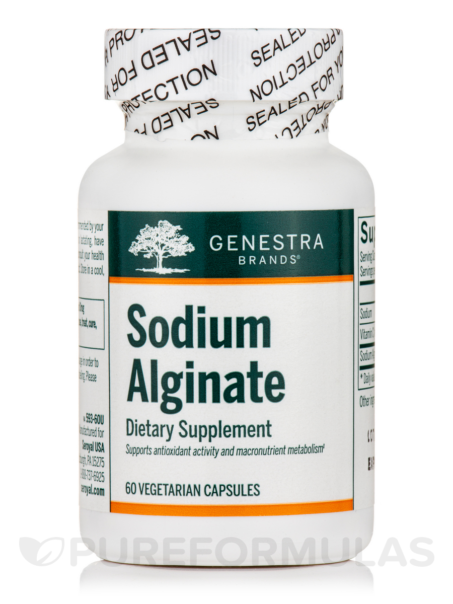 Sodium Alginate - 60 Vegetable Capsules