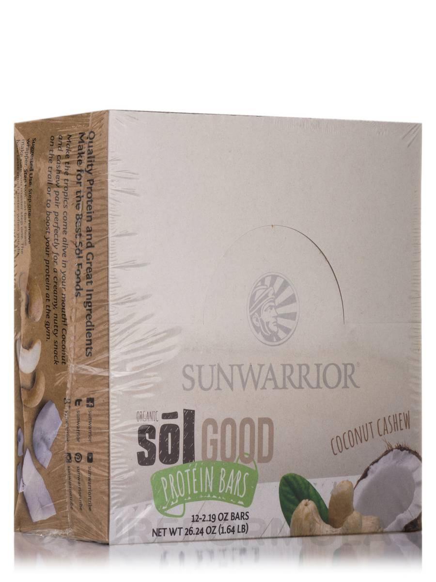 Sol Good Protein Bars, Coconut Cashew   Box Of 12 Bars (2.19 Oz Each)