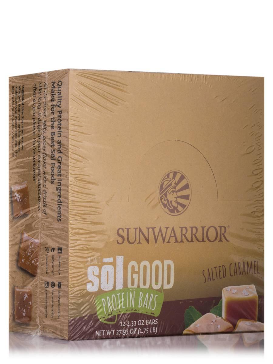 Sol Good Protein Bars, Salted Caramel - Box of 12 Bars (2.04 oz each)