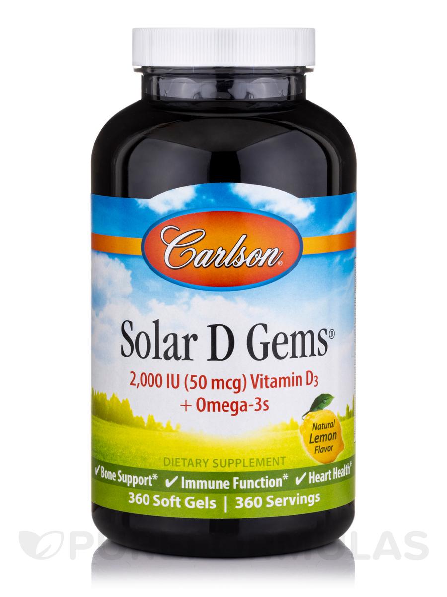 Solar D Gems® 2000 IU Vitamin D3 plus Omega-3s - 360 Soft Gels