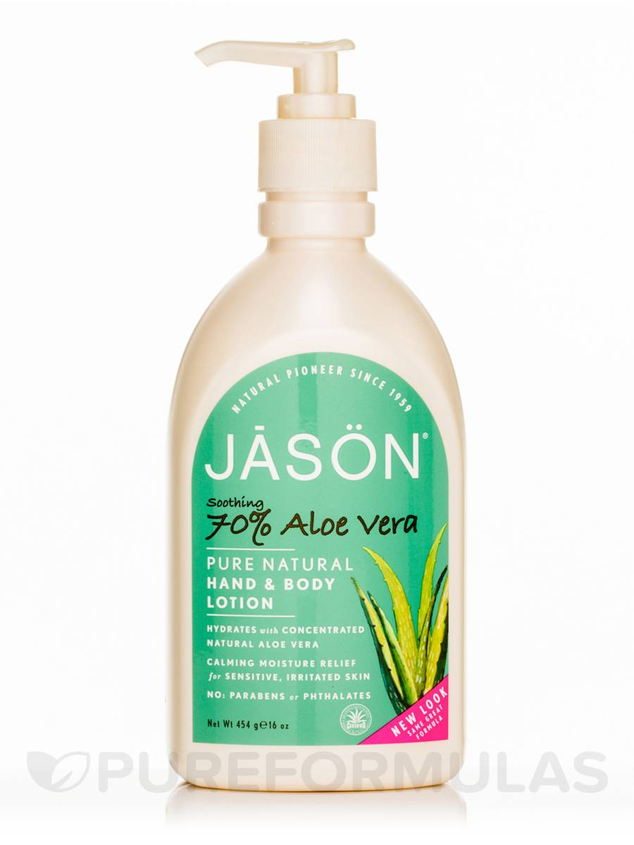 Soothing 70% Aloe Vera Hand & Body Lotion - 16 oz (454 Grams)