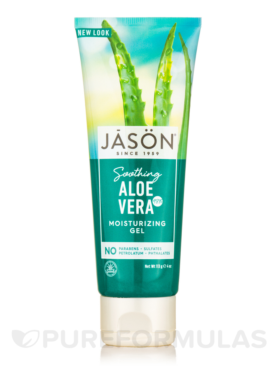 Soothing Aloe Vera 98% Gel Tube - 4 oz (113 Grams)