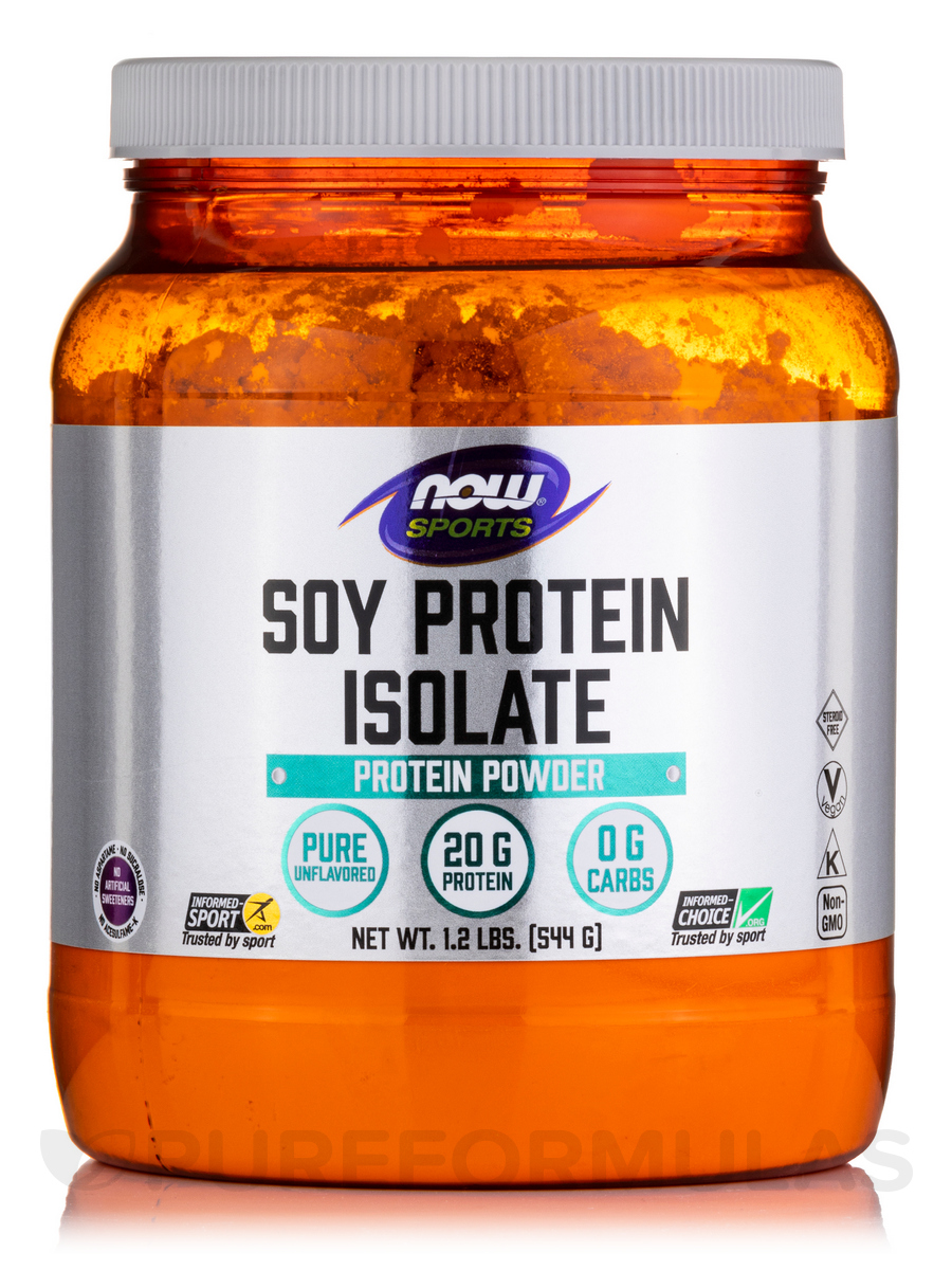 NOW® Sports - Soy Protein Isolate (Unflavored) - 1.2 lbs (544 Grams)