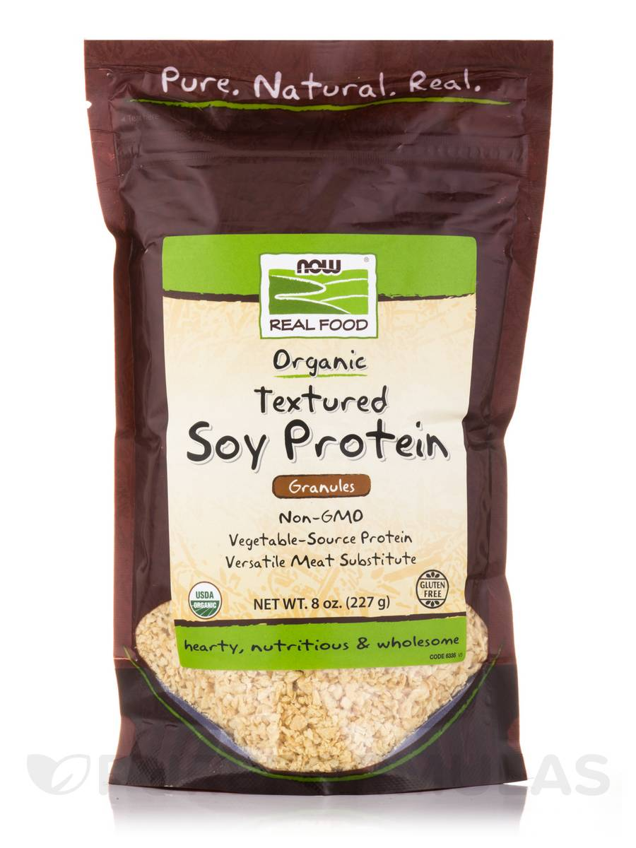 NOW® Real Food - Textured Soy Protein Granules (Certified Organic) - 8 oz (227 Grams)