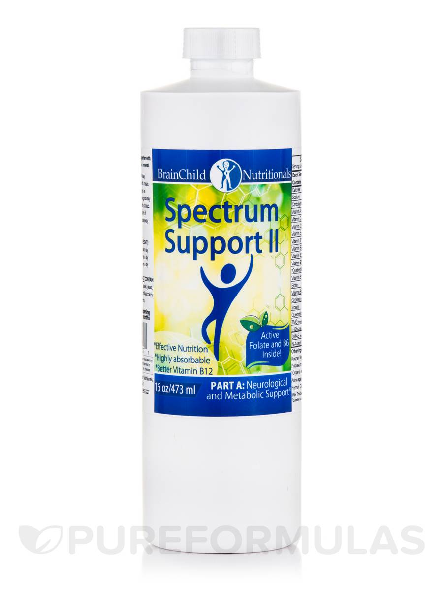 Spectrum Support II Vitamins (with P5P), Lemon-Lime - 16 oz (473 ml)