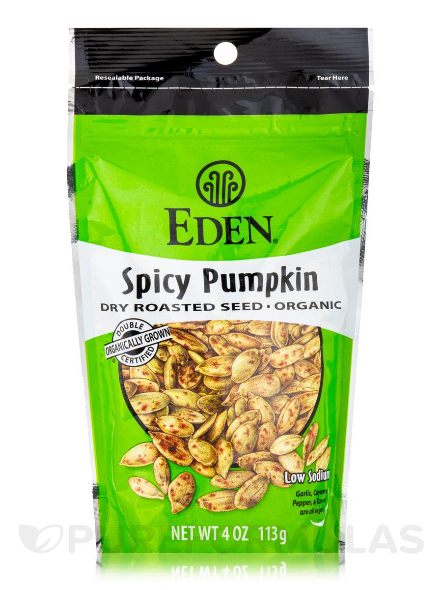 Spicy Pumpkin Seeds, Dry Roasted, Organic - 4 oz (113 Grams)