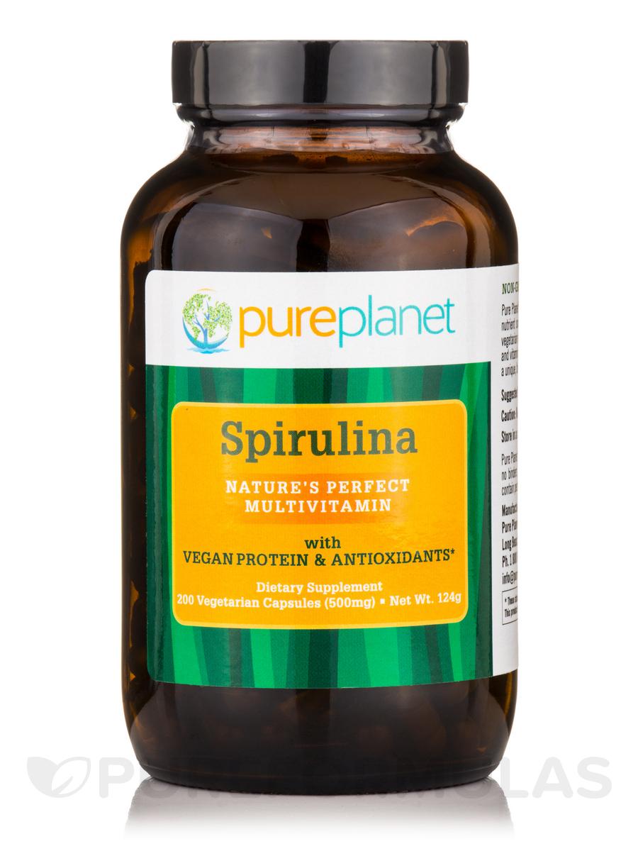 Spirulina 500 mg - 200 Vegetarian Capsules