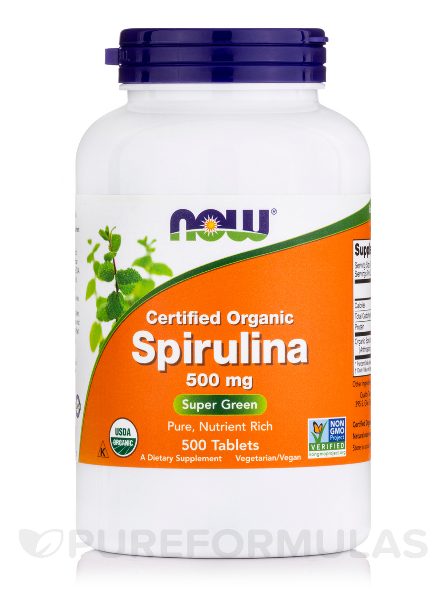 Spirulina 500 mg - 500 Tablets