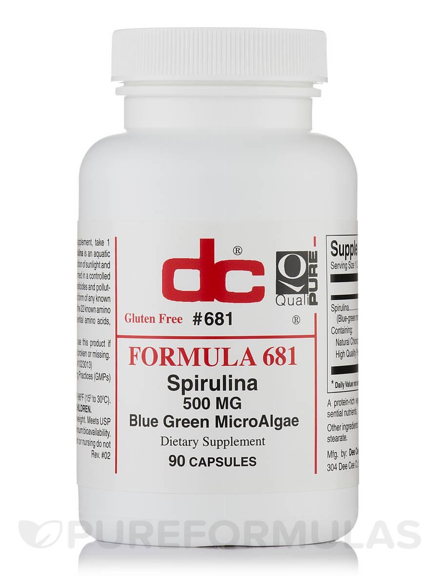 Spirulina 500 mg Blue Green MicroAlgae - 90 Capsules
