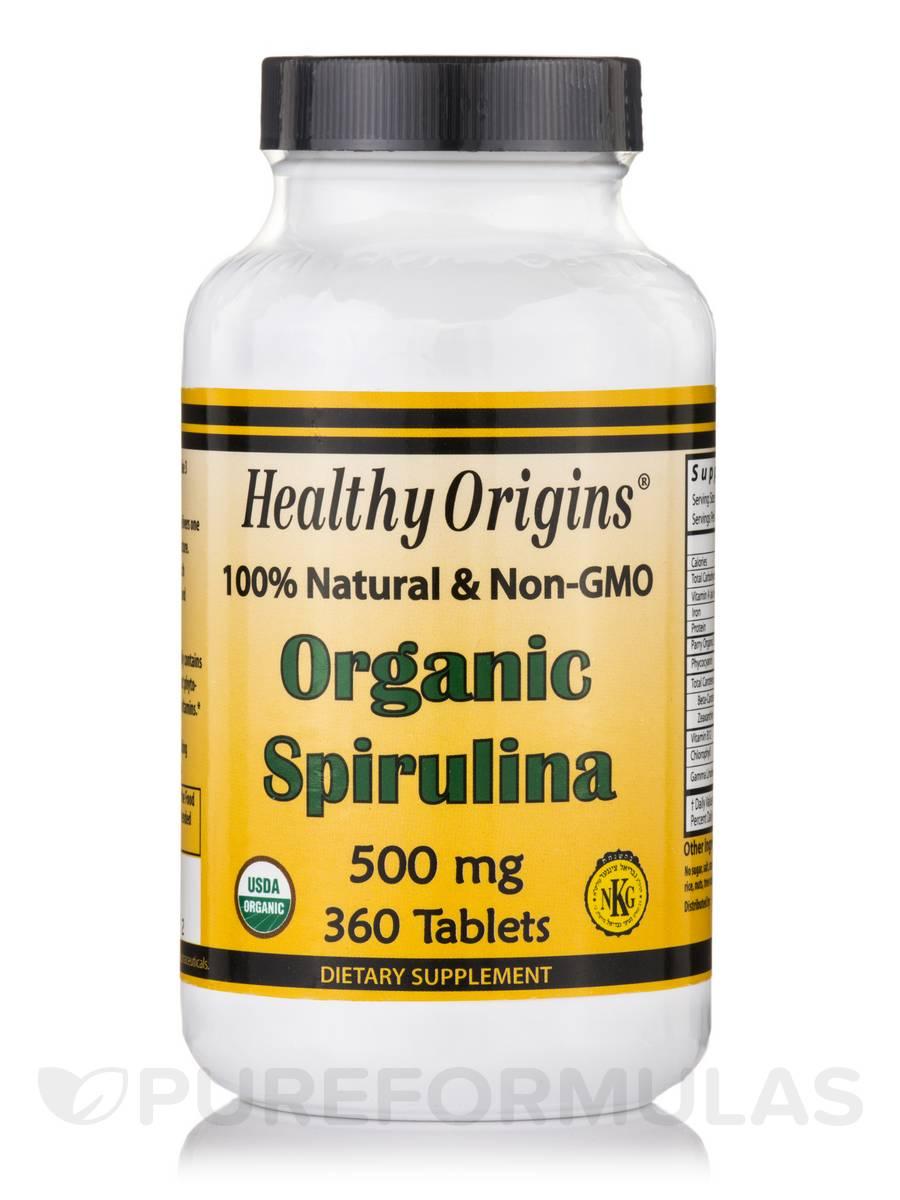 Spirulina 500 mg (Organic) - 360 Tablets