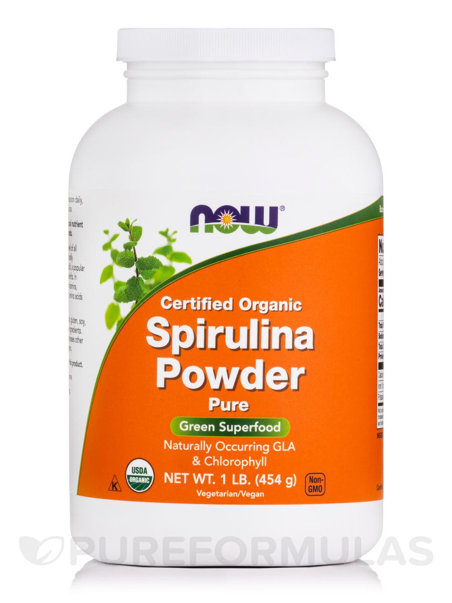 Spirulina Powder (Certified Organic) - 1 lb (454 Grams)