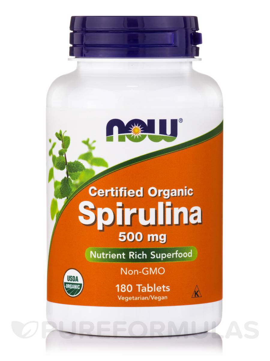 Spirulina (Certified Organic) 500 mg - 180 Tablets