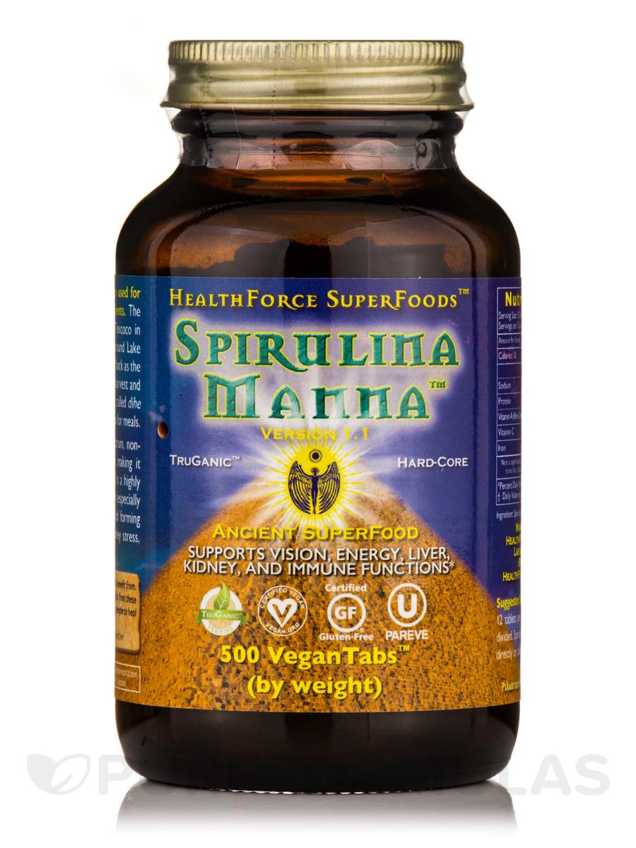 Spirulina Manna™ - 500 Vegan Tablets