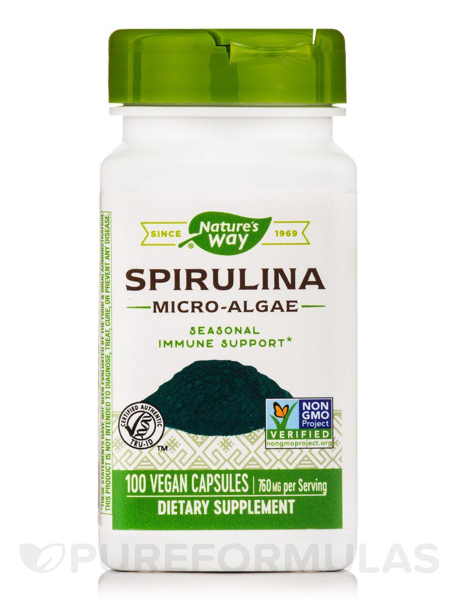 Spirulina Micro-Algae 380 mg - 100 Capsules