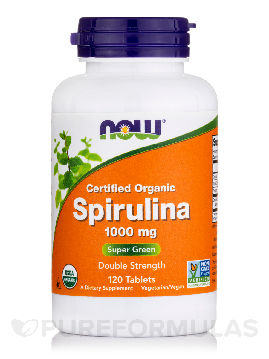Spirulina (Organic) Double Strength 1000 mg - 120 Tablets