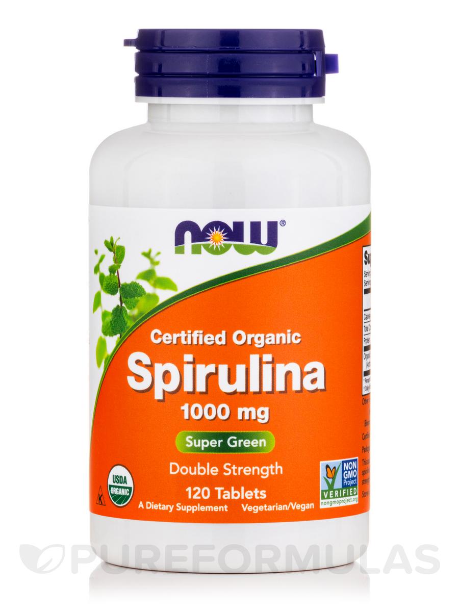 Spirulina (Organic) Double Strength 1000 mg - 120 Tablets