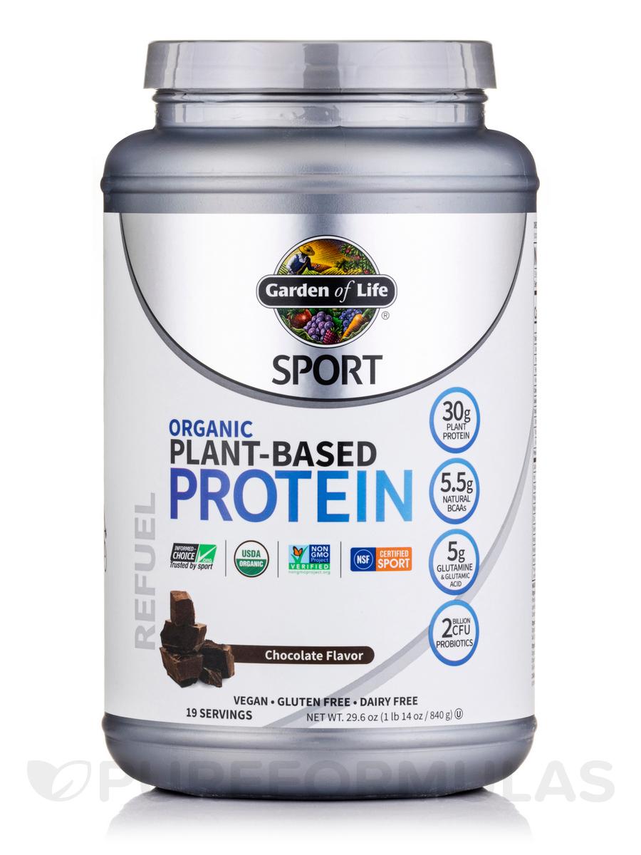 Sport Organic Plant-Based Protein, Chocolate - 29.6 oz (1 lb 14 oz / 840 Grams)