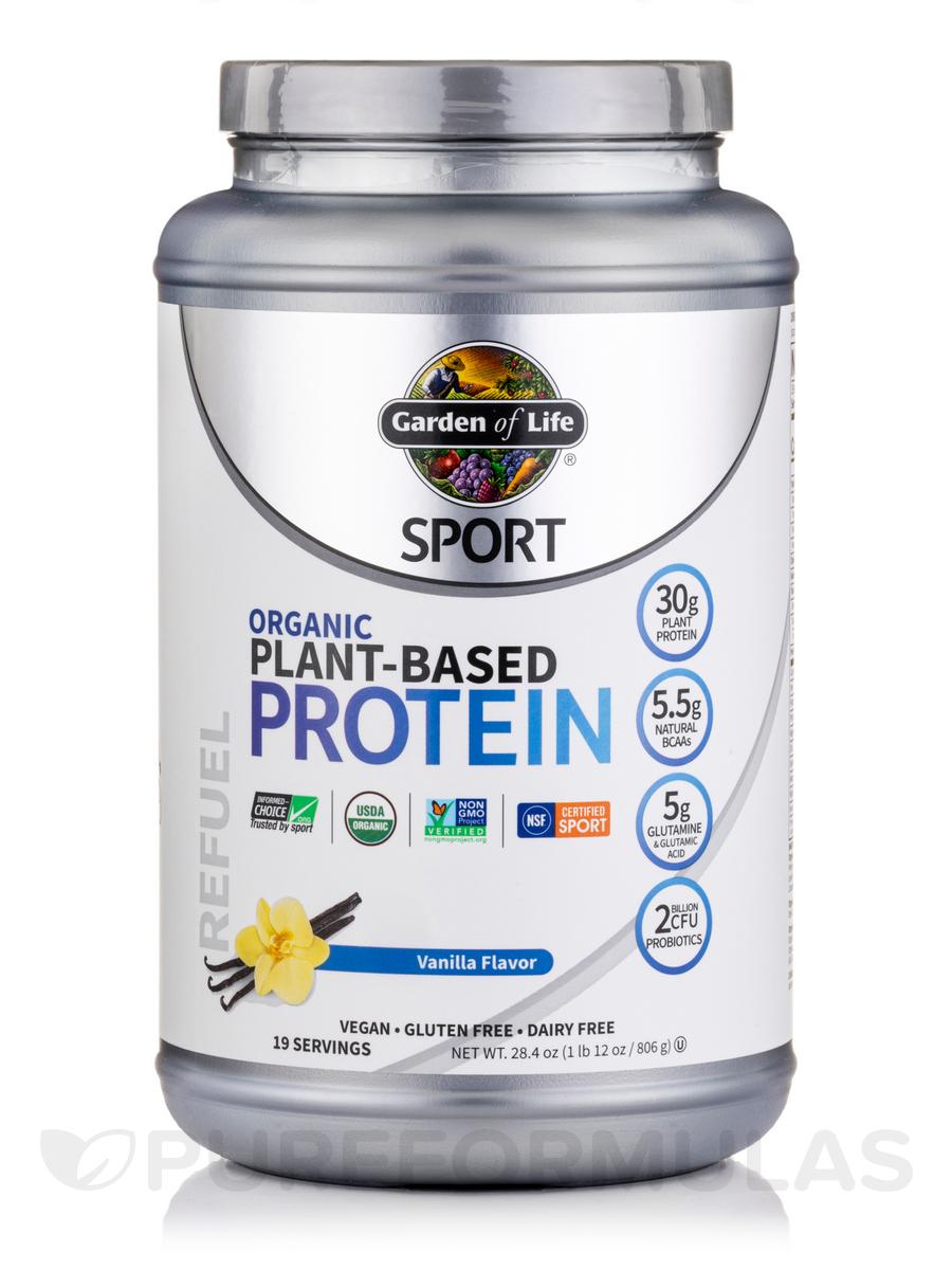 Sport Organic Plant Based Protein Vanilla 28 4 Oz 1 Lb