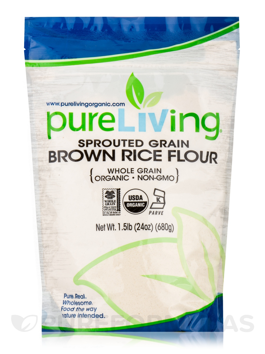 Sprouted Grain Brown Rice Flour (Whole Grain) - 24 oz (680 Grams)