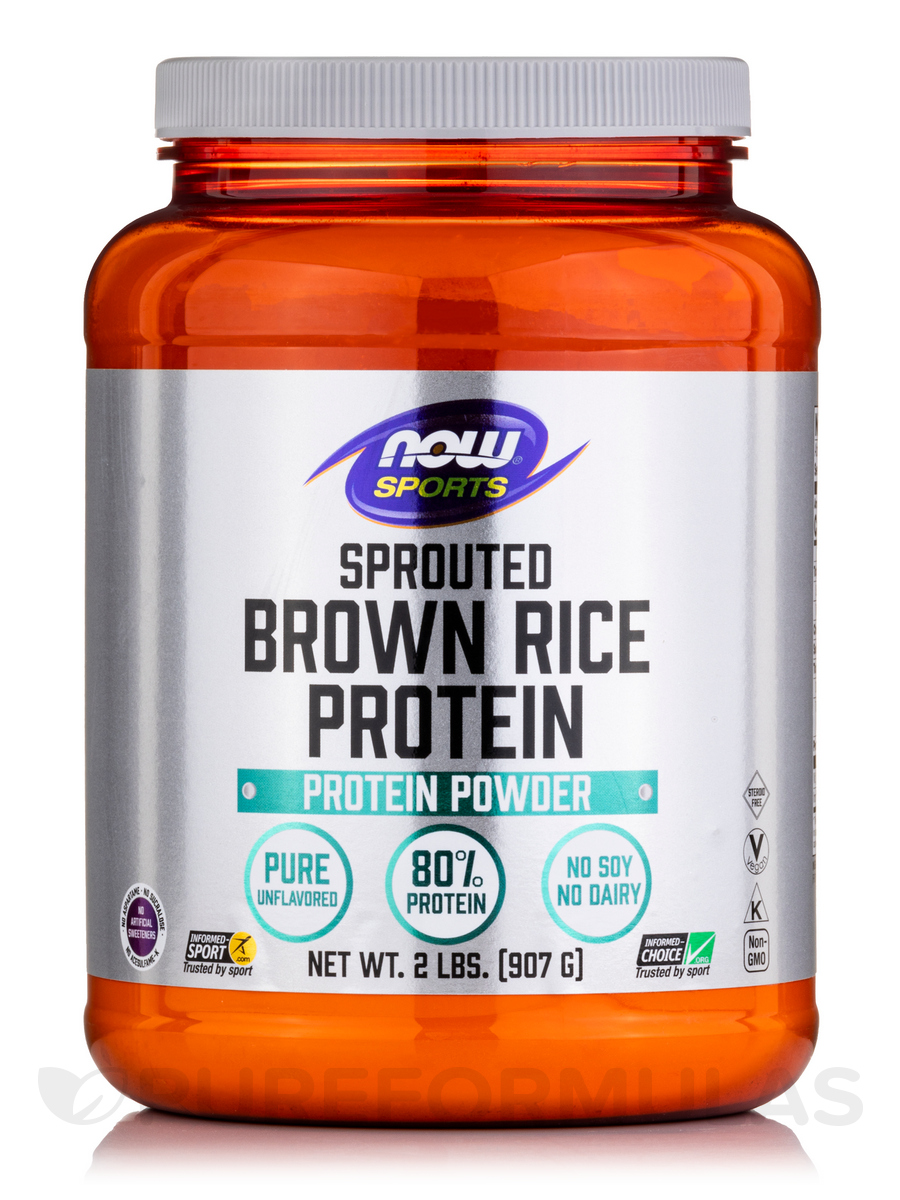 Sprouted rice protein
