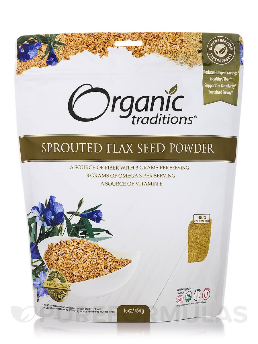 Sprouted Flax Seed Powder - 16 oz (454 Grams)