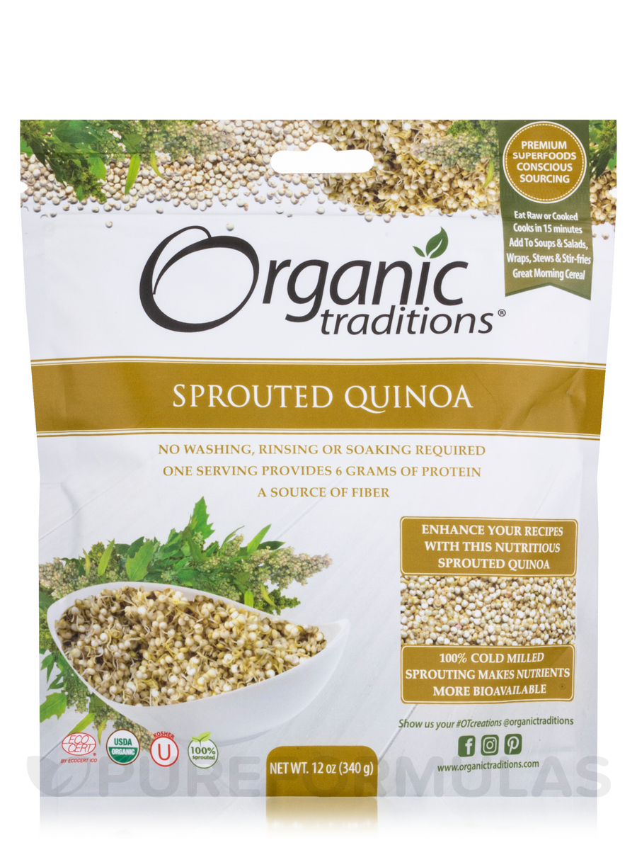 Sprouted Quinoa - 12 oz (340 Grams)