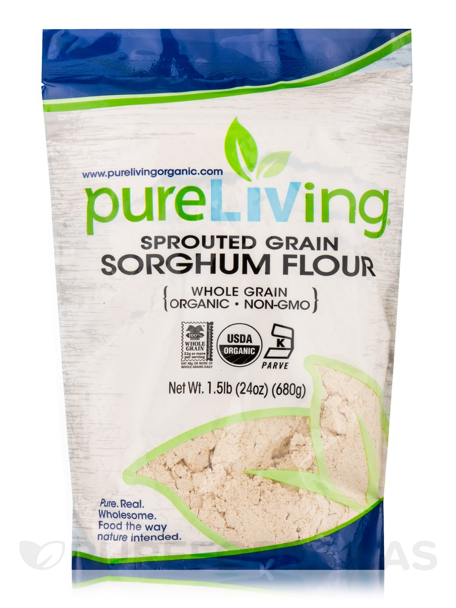 Sprouted Grain Sorghum Flour (Whole Grain) - 24 oz (680 Grams)