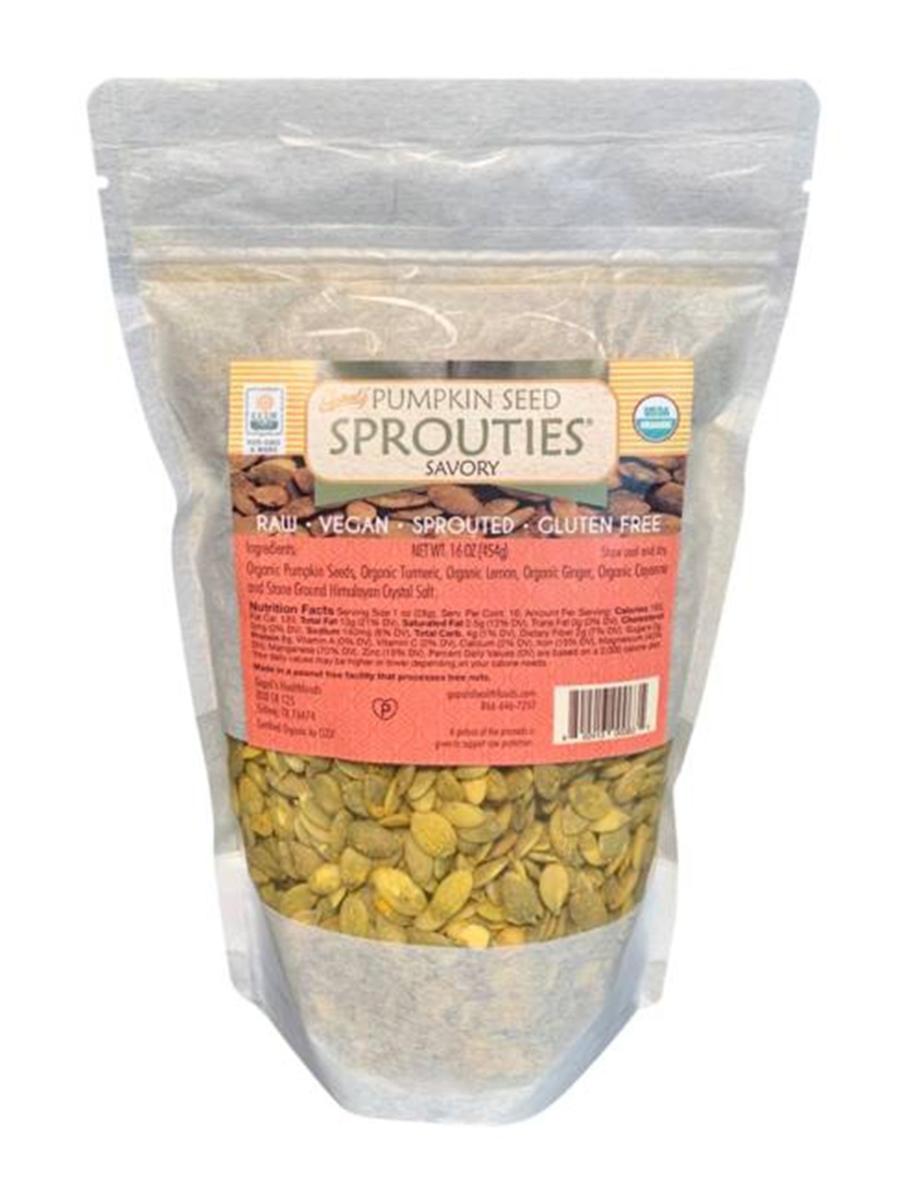 Sprouties® Pumpkin Seeds, Savory - 16 oz (454 Grams)