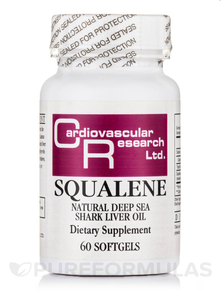Squalene (from Shark Liver Oil 500 mg) - 60 Softgels