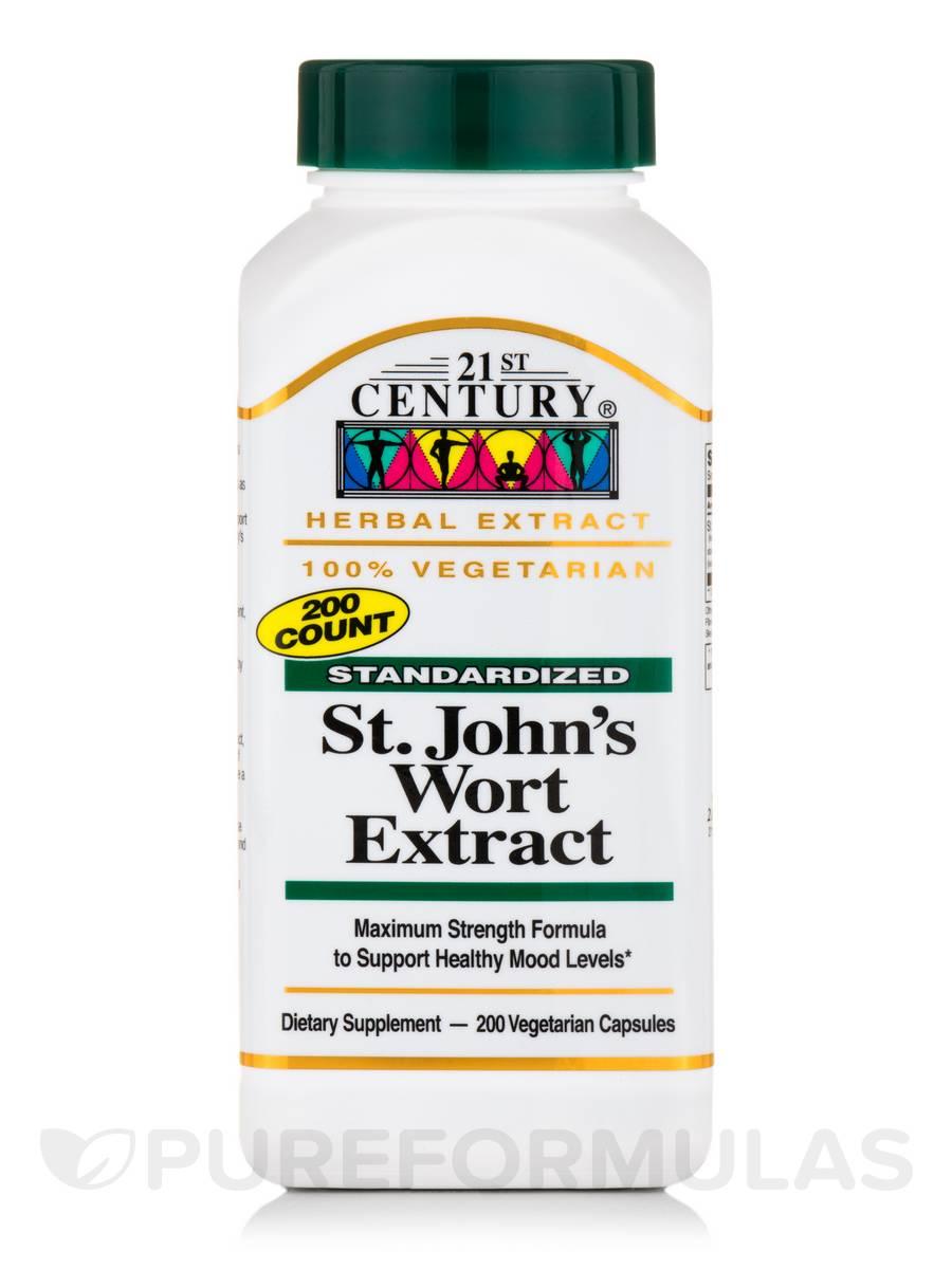 St. John's Wort Extract - 200 Vegetarian Capsules
