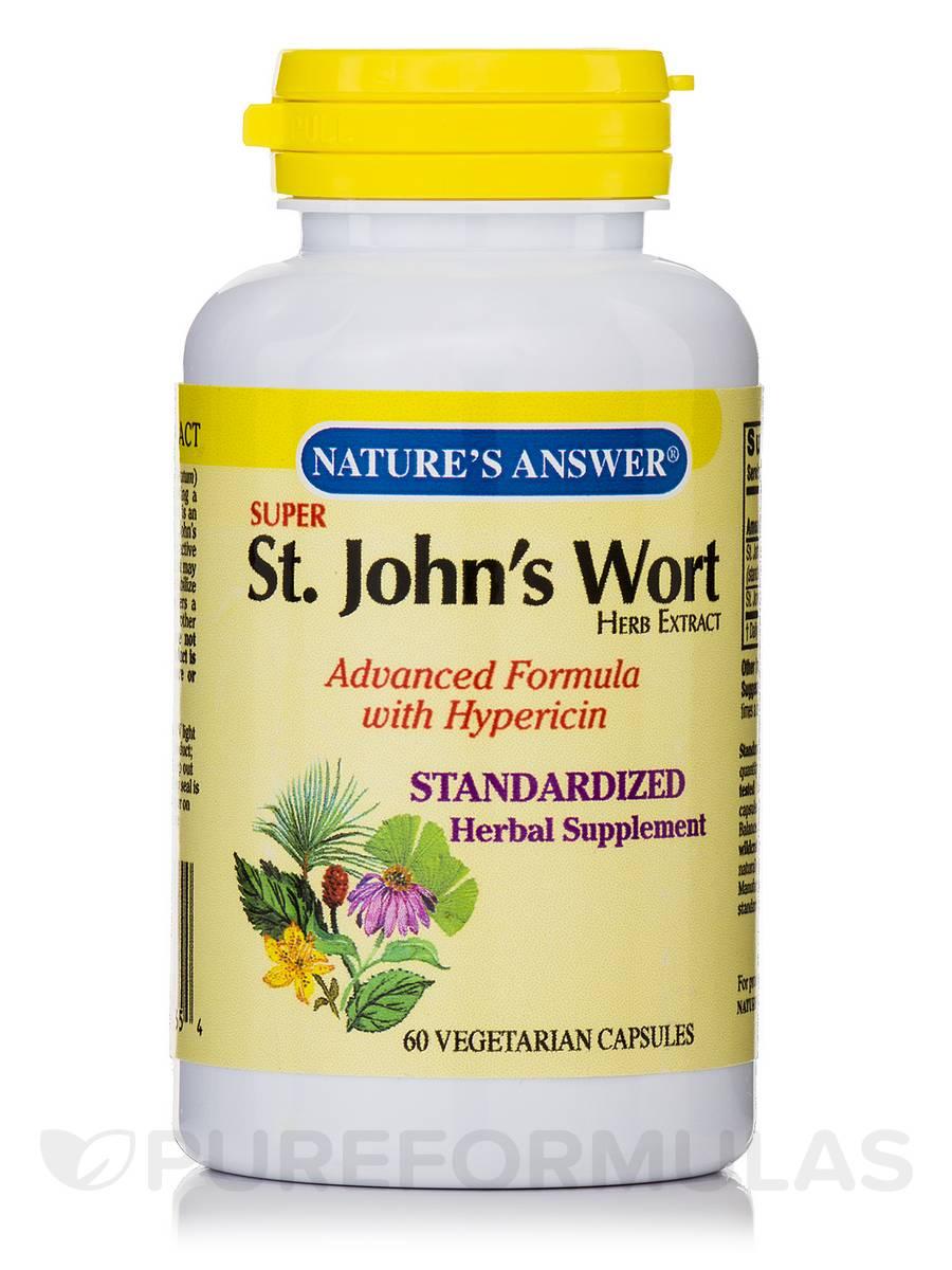 St. John's Wort Herb Extract (Super) - 60 Vegetarian Capsules
