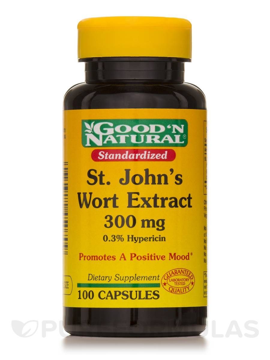 Standardized St. John's Wort 300 mg - 100 Capsules