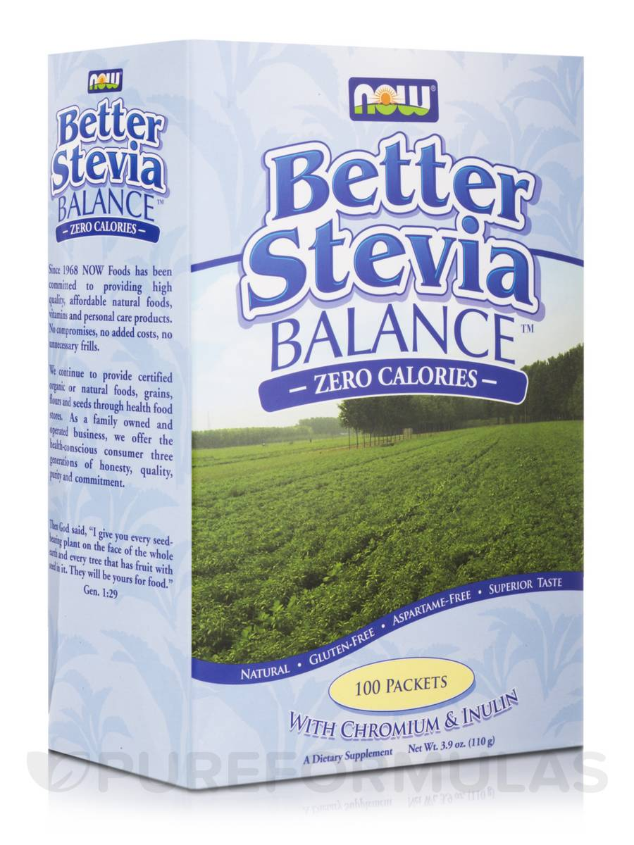 Better Stevia Balance with Inulin & Chromium - Box of 100 Packets