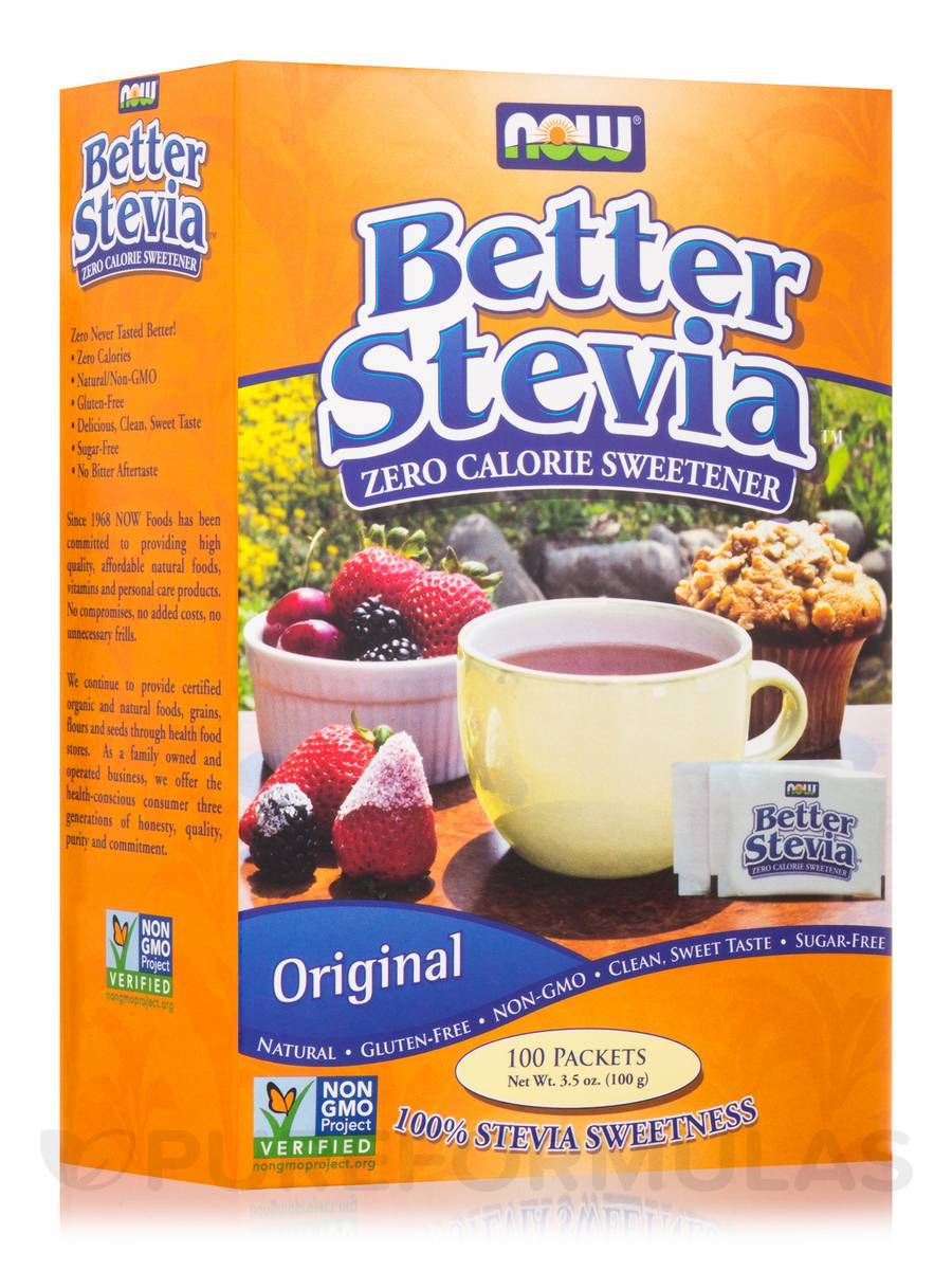 Better Stevia Extract Packets, Original - Box of 100 Packets