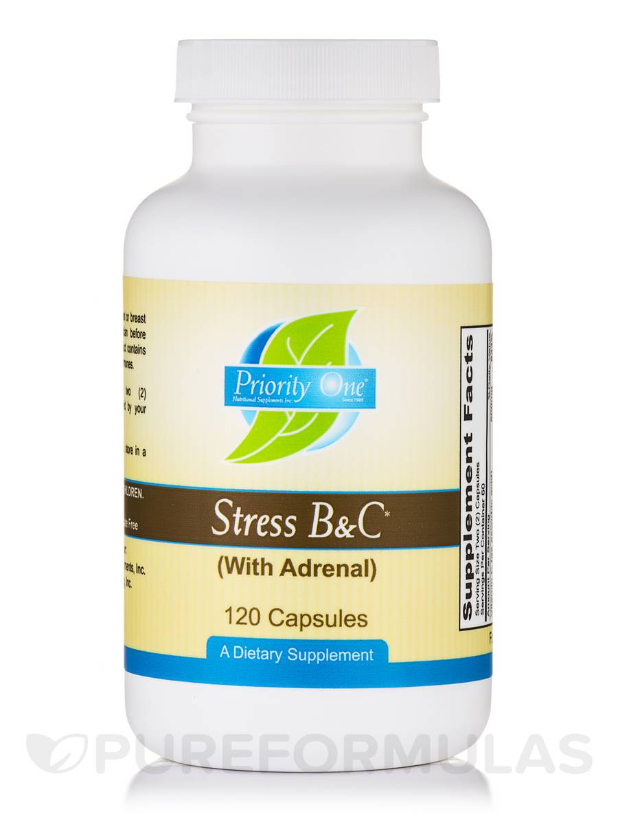 Stress B & C (with Adrenal) - 120 Capsules
