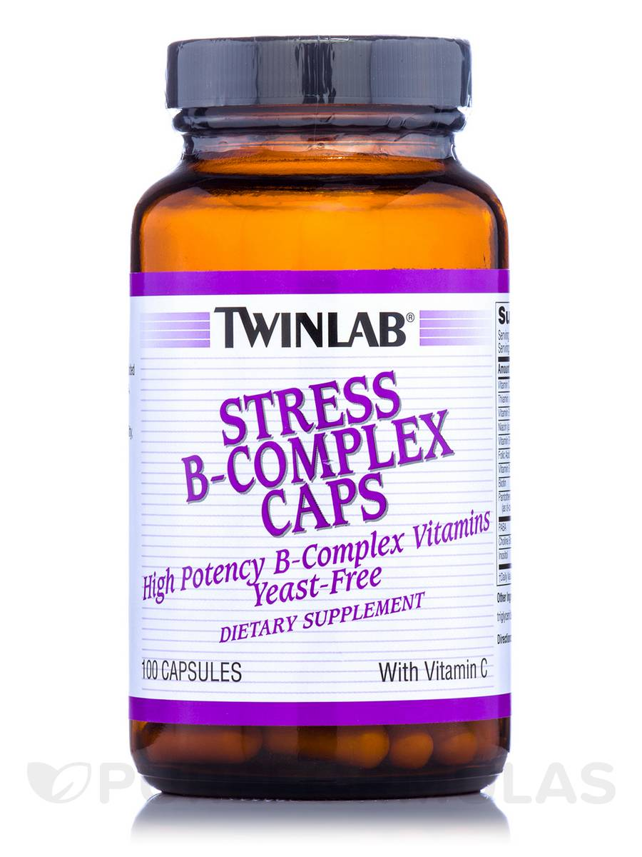 Stress B-Complex Caps with Vitamin C - 100 Capsules