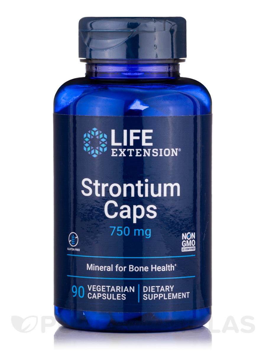 Strontium Caps 750 mg - 90 Vegetarian Capsules