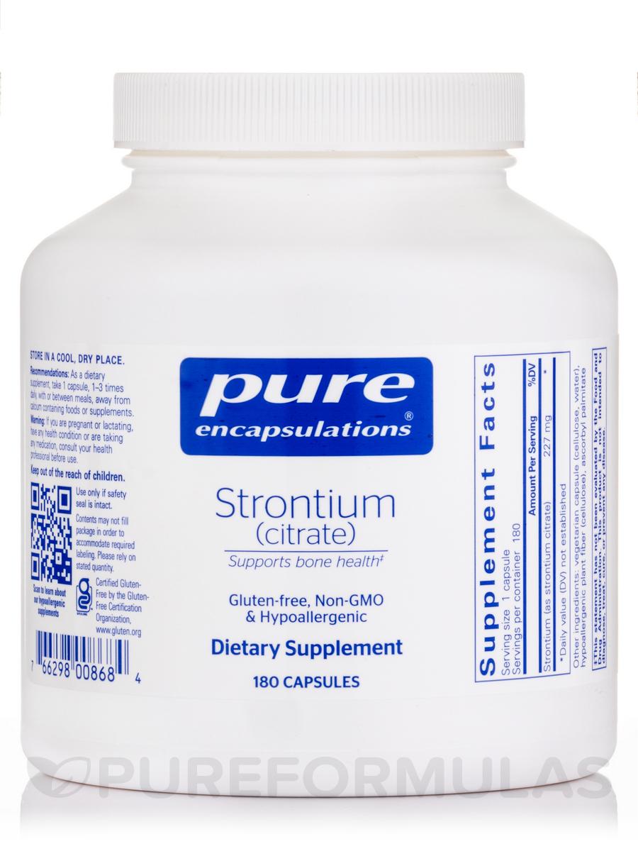 Strontium (citrate) - 180 Capsules