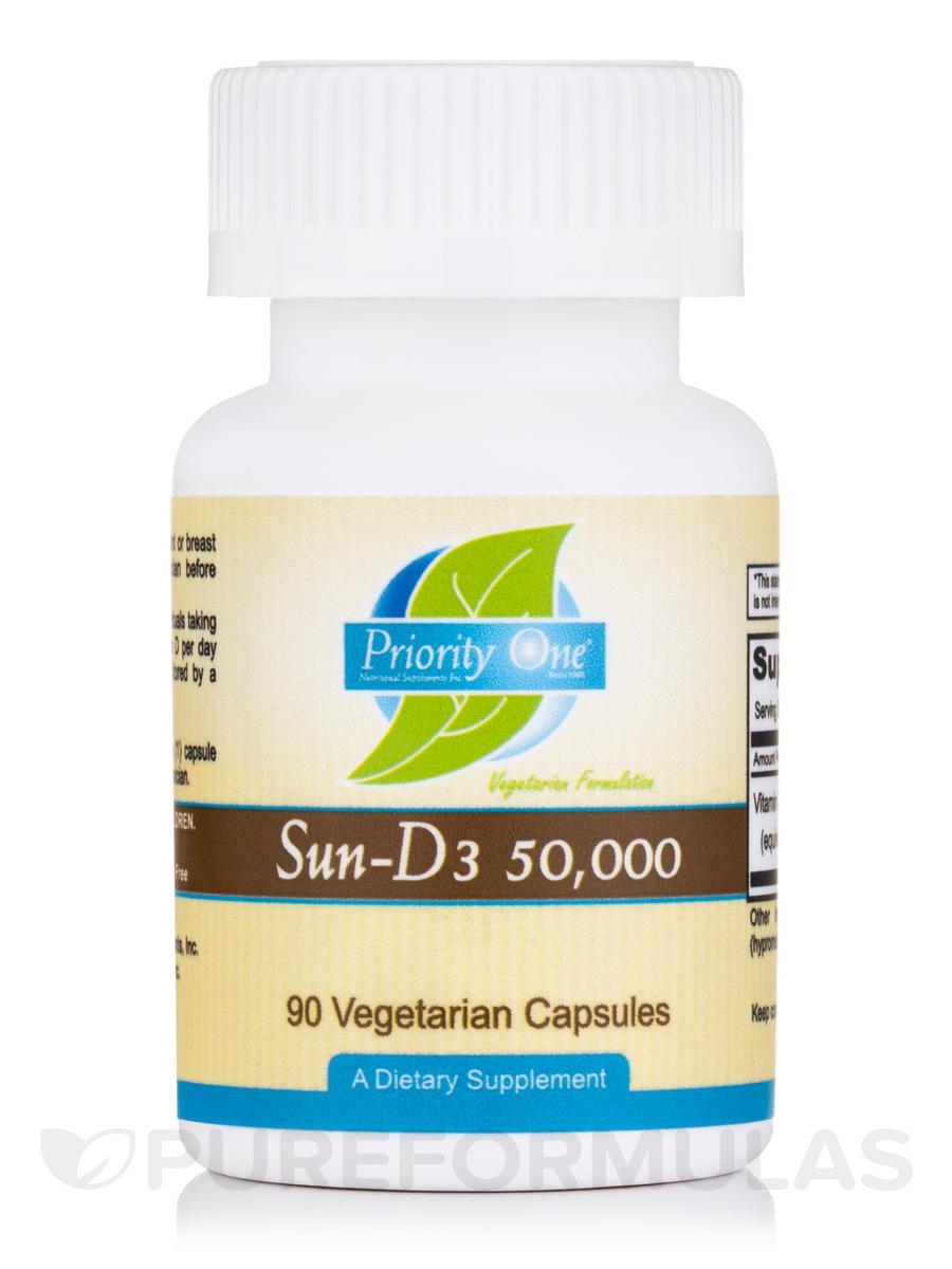 Sun-D3 50,000 IU - 90 Vegetarian Capsules