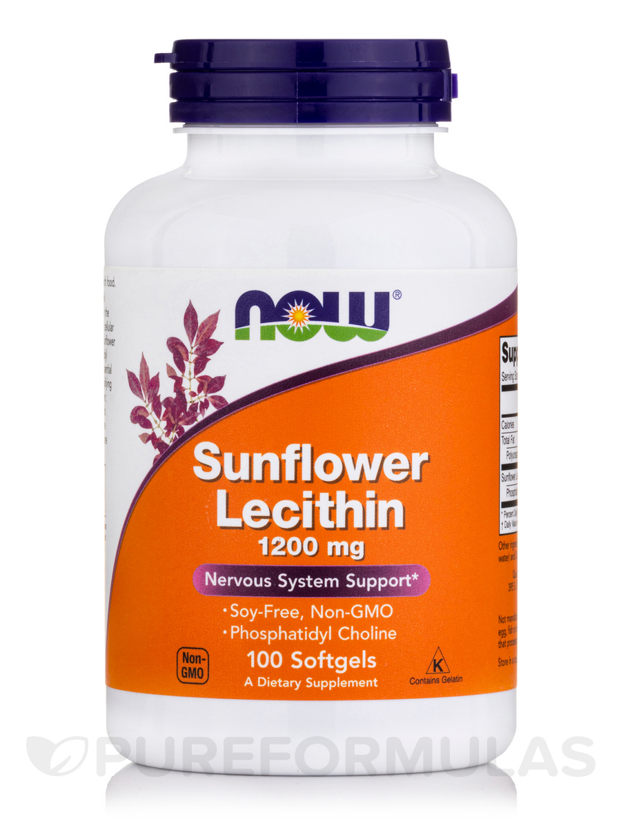 Sunflower Lecithin 1200 mg - 100 Softgels