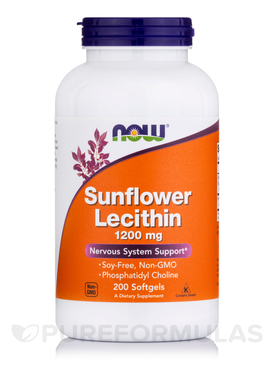 Sunflower Lecithin 1200 mg - 200 Softgels