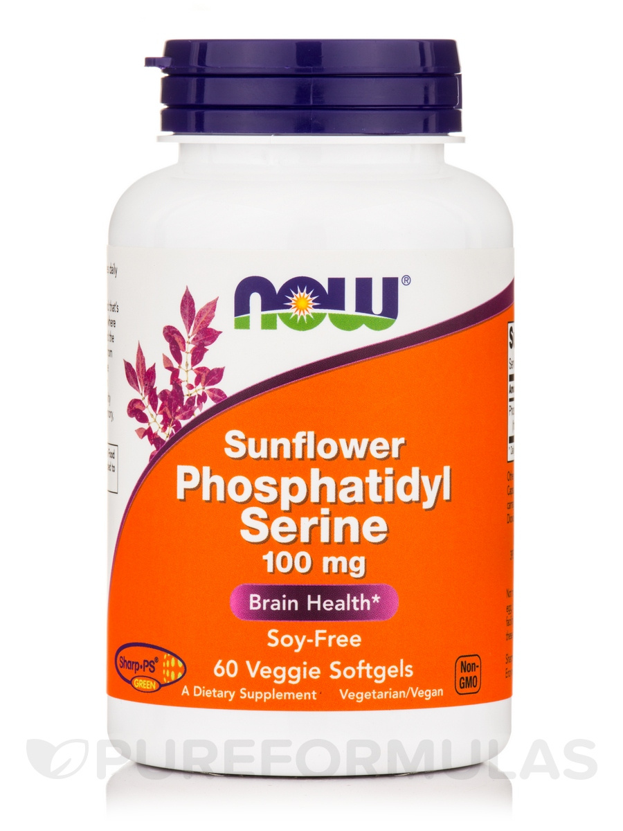 Sunflower Phosphatidyl Serine 100 mg - 60 Veggie Softgels