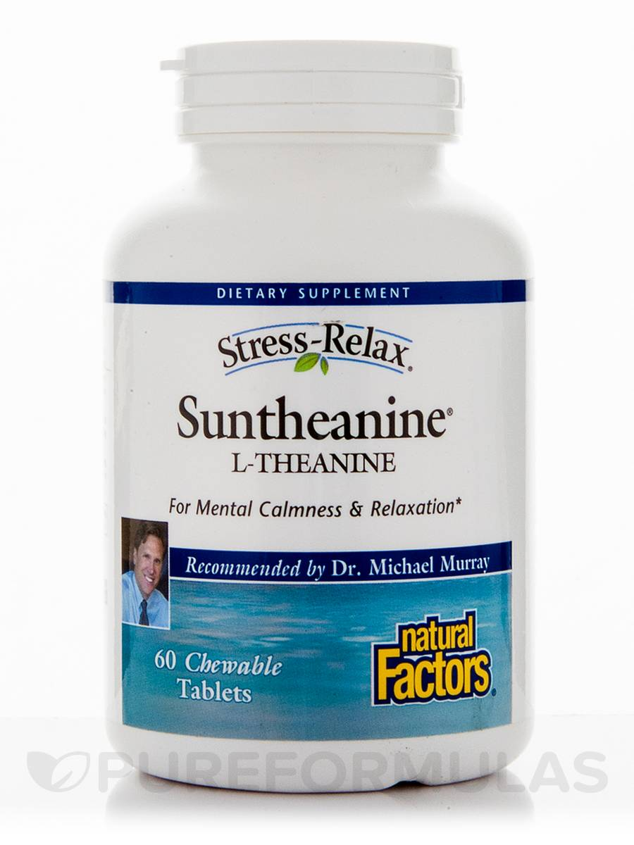 Suntheanine 174 L Theanine 60 Chewable Tablets