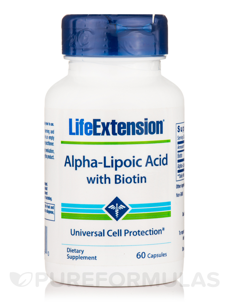 Super Alpha-Lipoic Acid with Biotin 250 mg - 60 Capsules