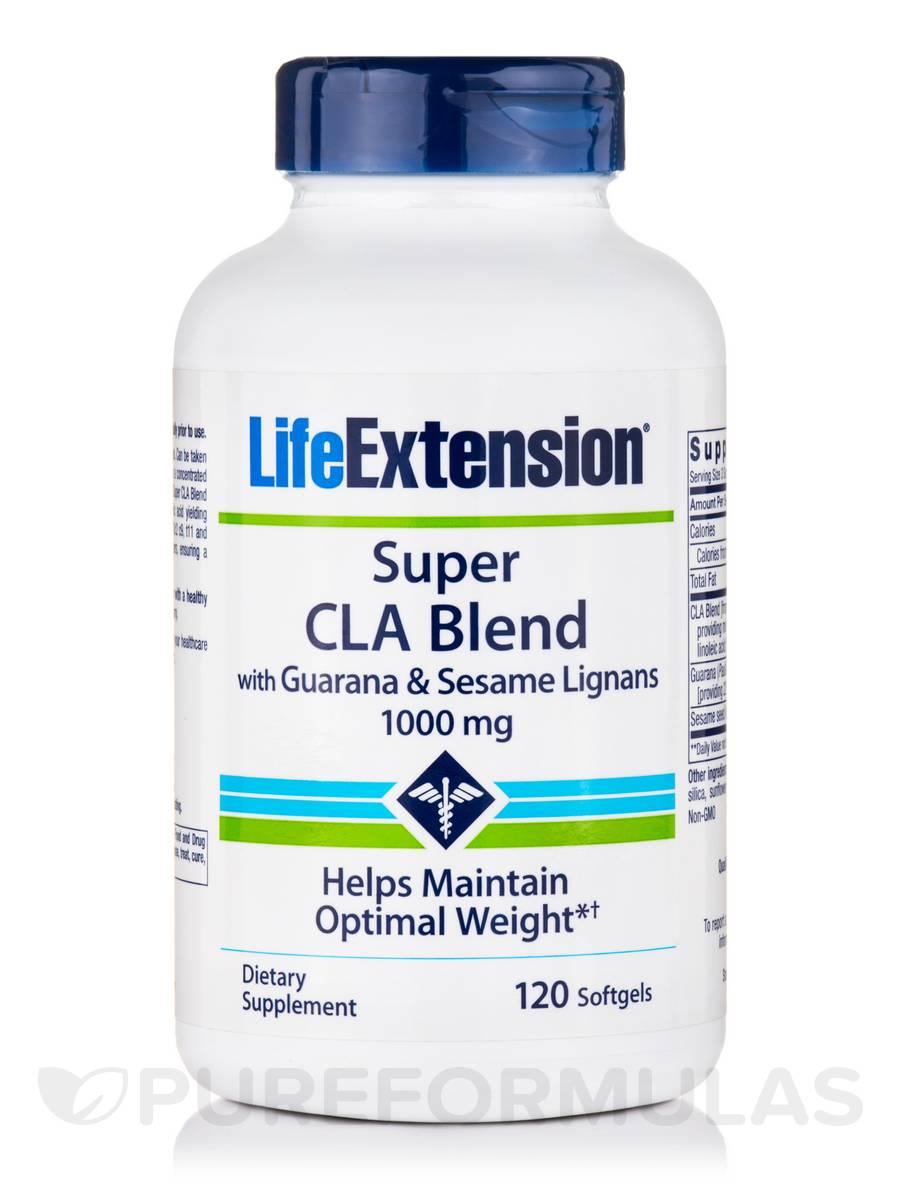 Super CLA Blend with Guarana and Sesame Lignans 1000 mg - 120 Softgels