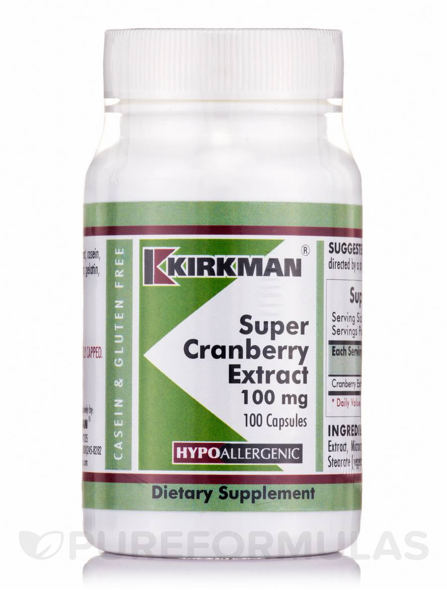 Super Cranberry Extract 100 mg -Hypoallergenic - 100 Capsules